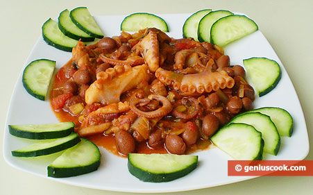 Moscardini with Beans and Leek