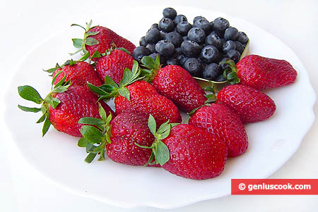 Ingredients for Strawberry Blueberry Dessert