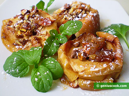 Apples Baked with Nuts