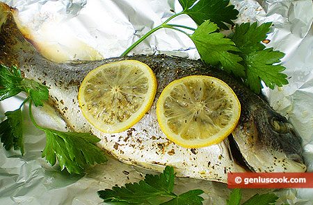 Dorado Baked in Foil with Lemon
