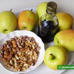 Ingredients for Apples Baked with Nuts