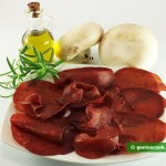 Ingredients for Carpaccio from Field Mushrooms