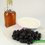 Ingredients for Dessert with Philadelphia Cheese and Bilberry