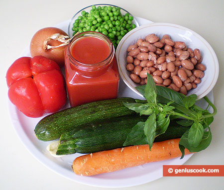 Ingredients for Dietary Vegetable Cream Soup