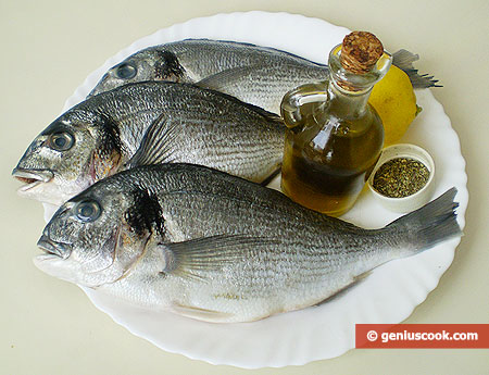 Ingredients for Dorado Baked in Foil with Lemon
