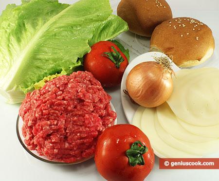 Ingredients for Hamburger