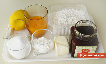 Ingredients for Heart-Shaped Cookies
