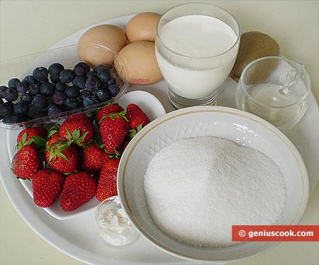 Ingredients for Pavlov Cake
