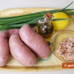 Ingredients for Potato Salad with Tuna and Bunching Onion