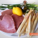 Ingredients for Tuna Steaks with White Asparagus
