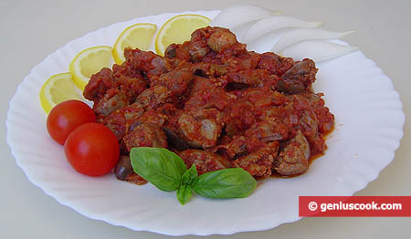 Chicken Insides in Tomato Sauce