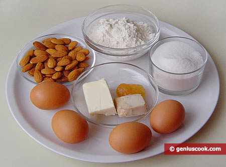 Ingredients for Cantucci, Hard Almond-Flavored Biscuits