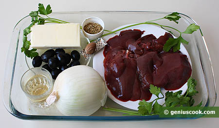 Ingredients for Rabbit Liver Pate