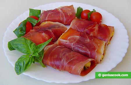 Polenta with Prosciutto Ham