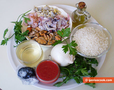 Ingredients for Black Risotto