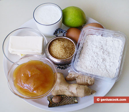 Ingredients for Gingerbread