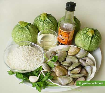 Ingredients for Vegetable Marrows Stuffed