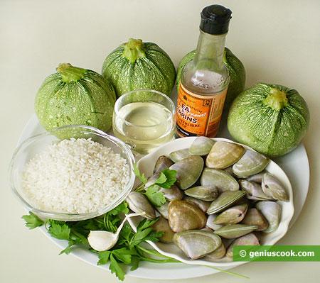 Ingredients for Vegetable Marrows Stuffed
