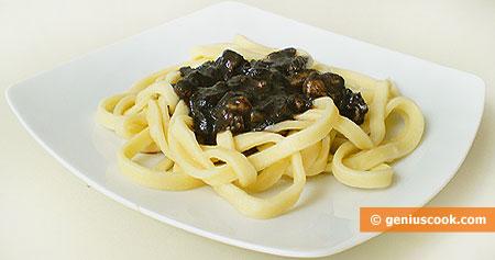 Tagliatelle with Black Cuttlefish Sauce