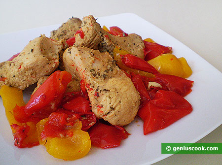 The Chicken Breast with Sweet Pepper