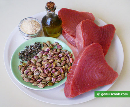 Ingredients for Tuna Fillet with Capers and Pistachios