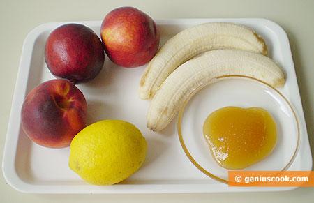 Ingredients for Banana- Peach Sorbet