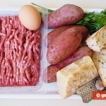 Ingredients for Croquettes with Meat and Potato