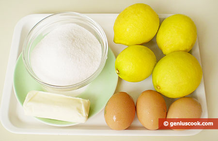 Ingredients for Lemon Ice-Cream