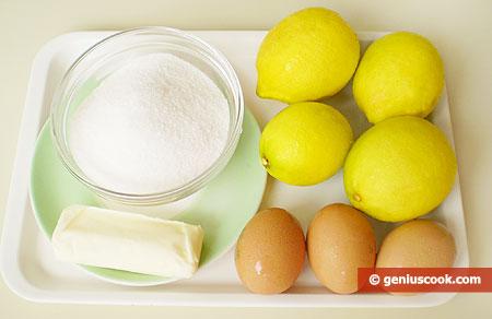 Ingredients for Lemon Ice-Cream
