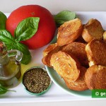 Ingredients for Bruschetta with Tomatoes