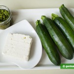 Ingredients for Zucchini with Goat Cheese and Pesto Sauce