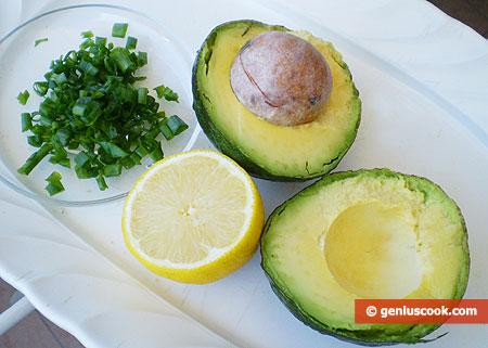 Ingredients for Avocado Butter with Lemon Juice