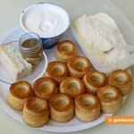 Ingredients for Puff Paste Baskets with Cheese and Truffle Cream