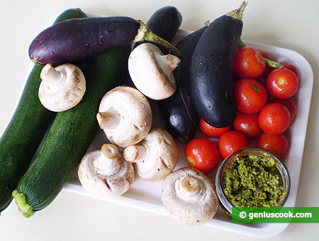 Ingredients for Grilled Vegetables