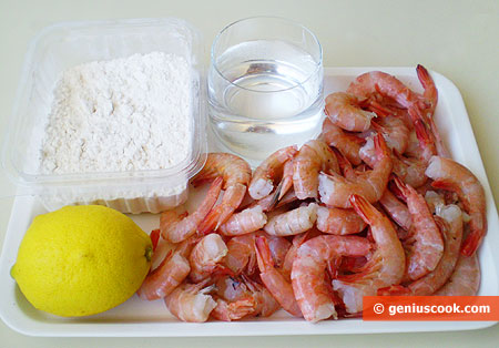 Ingredients for Prawns in Lemon Batter