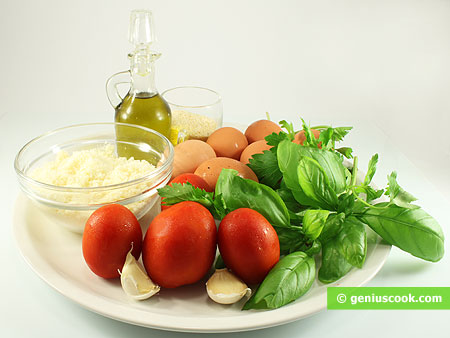 Ingredients for Cheese Balls in Tomato Sauce