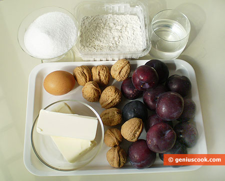 Ingredients for Plum Galette