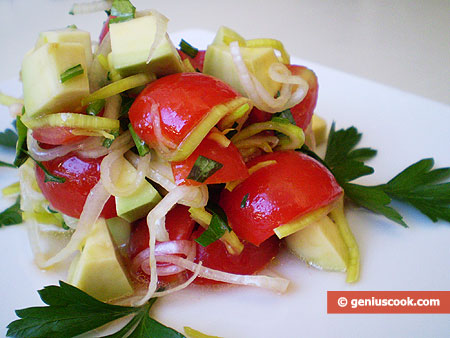 Avocado and Leek Salad