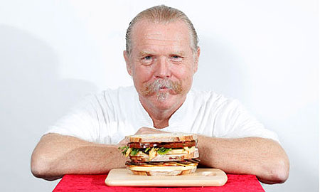 British chef Martin Blunos and his sandwich