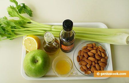Ingredients for Salad with Green Apple and Celery