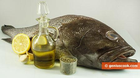 Ingredients for Sea Perch Italian Way
