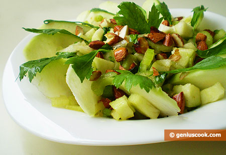 Salad with Green Apple and Celery
