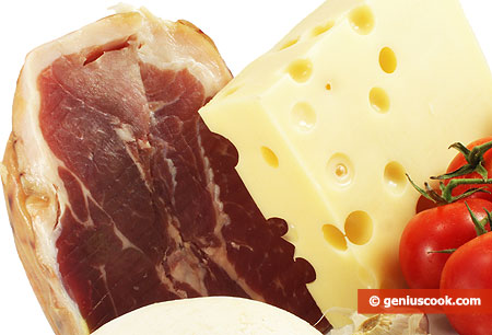 Ham and cheese contain saturated fats