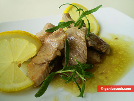 Pork with Lemon and Rosemary