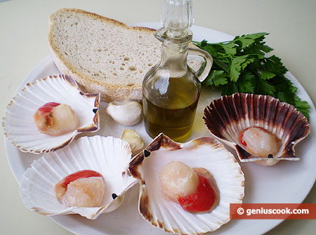 Ingredients for Scallops Baked in Shells