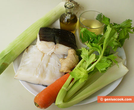 Ingrdients for Stewed Cod in Ginger Sauce
