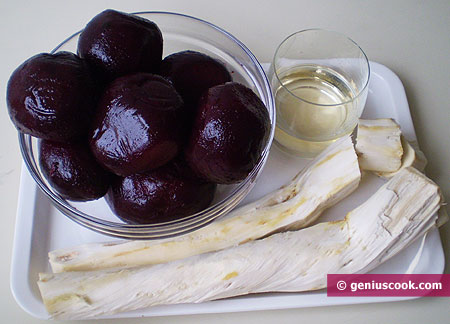Ingredients for Horse Radish with Beetroot