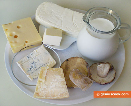 Ingredients for Julienne with Cheese and Mushrooms