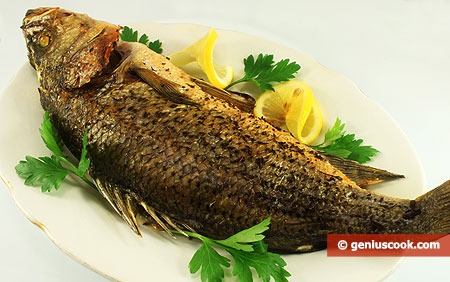 Sea Bass Baked with Spicy Herbs