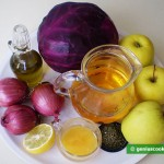 Ingredients for Red Cabbage Stewed with Apples
